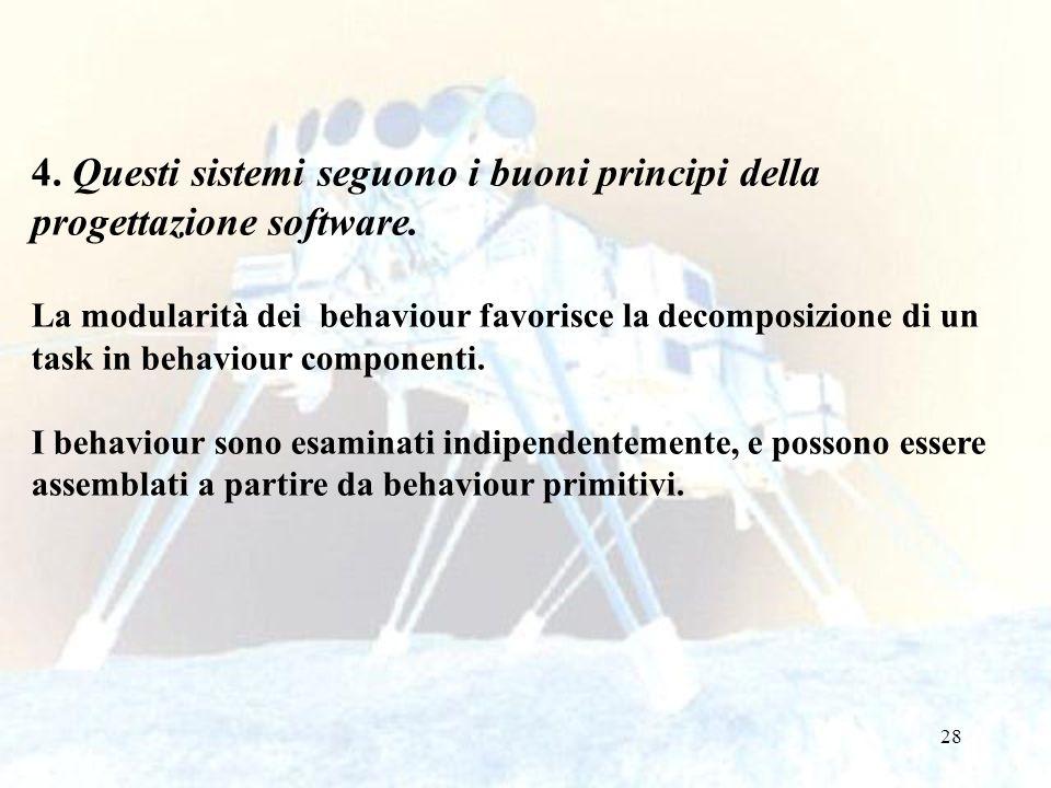 28 4. Questi sistemi seguono i buoni principi della progettazione software.