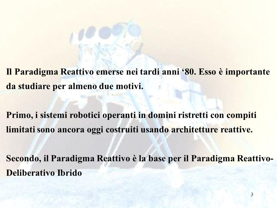 3 Il Paradigma Reattivo emerse nei tardi anni 80.