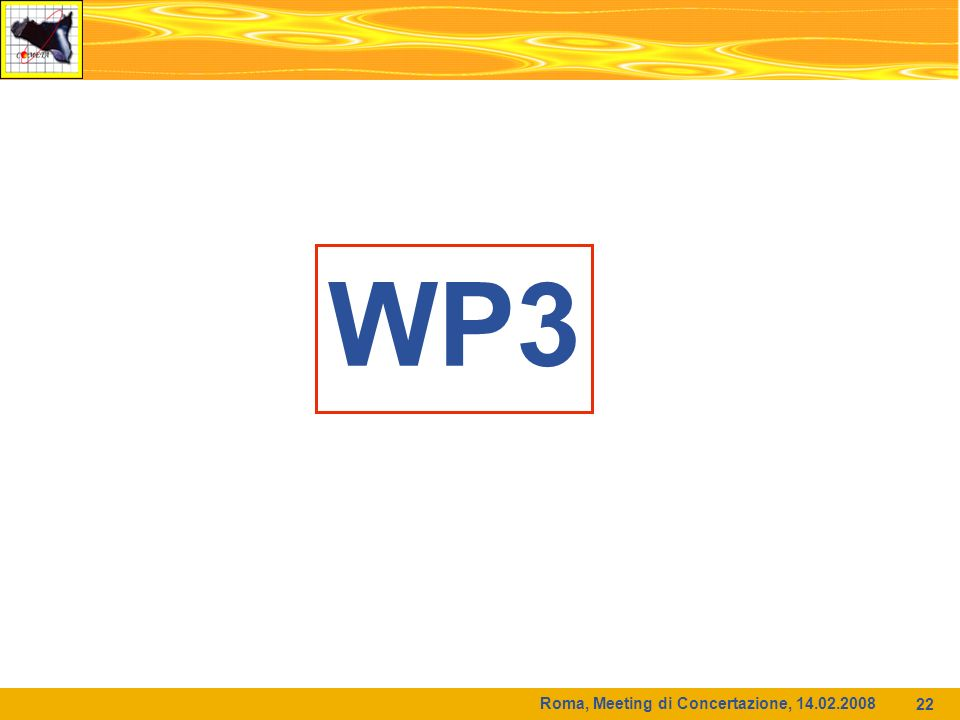 Roma, Meeting di Concertazione, WP3