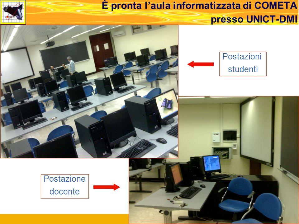 Roma, Meeting di Concertazione, 14.02.2008 23 È pronta laula informatizzata di COMETA presso UNICT-DMI Postazioni studenti Postazione docente