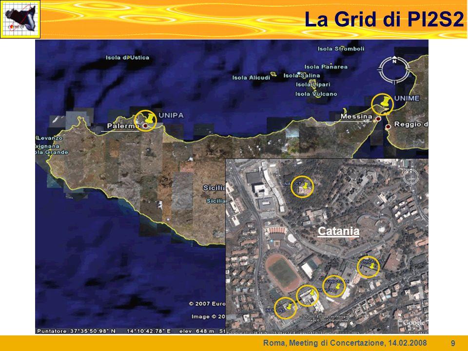 Roma, Meeting di Concertazione, 14.02.2008 9 La Grid di PI2S2 Catania
