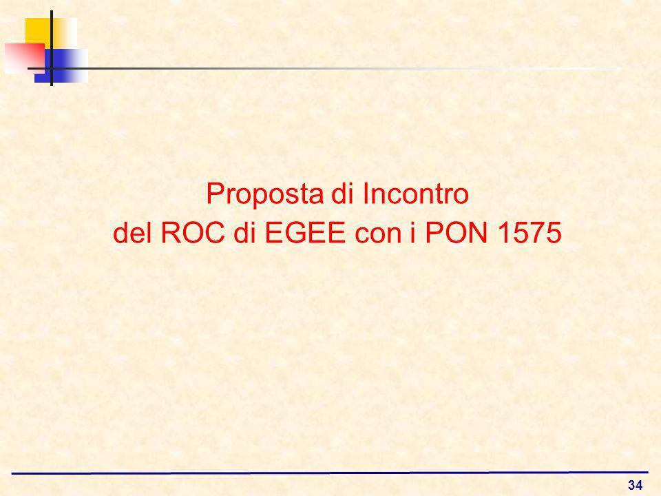 34 Proposta di Incontro del ROC di EGEE con i PON 1575