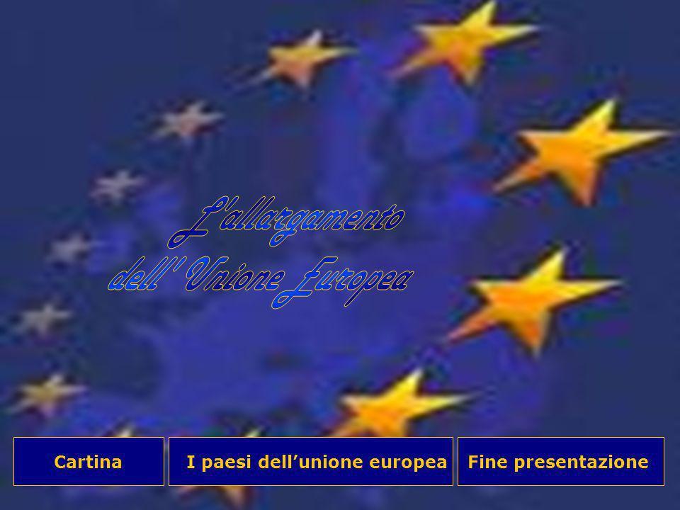 I paesi dellunione europeaCartinaFine presentazione