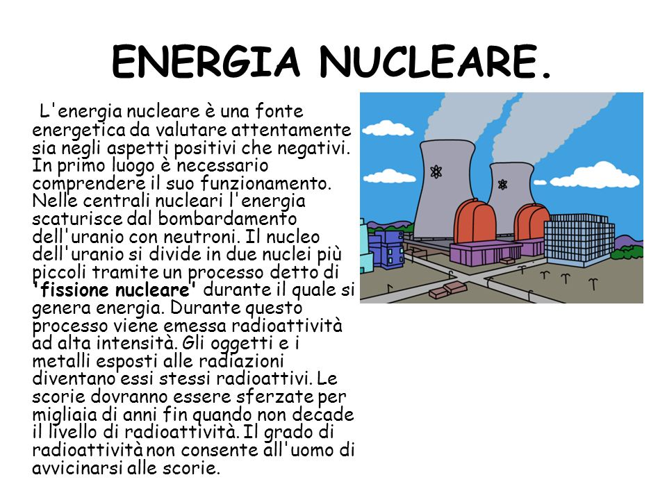 ENERGIA NUCLEARE.