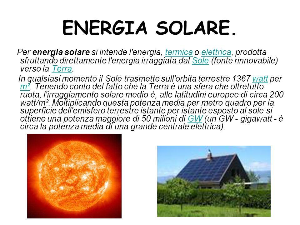 ENERGIA SOLARE.