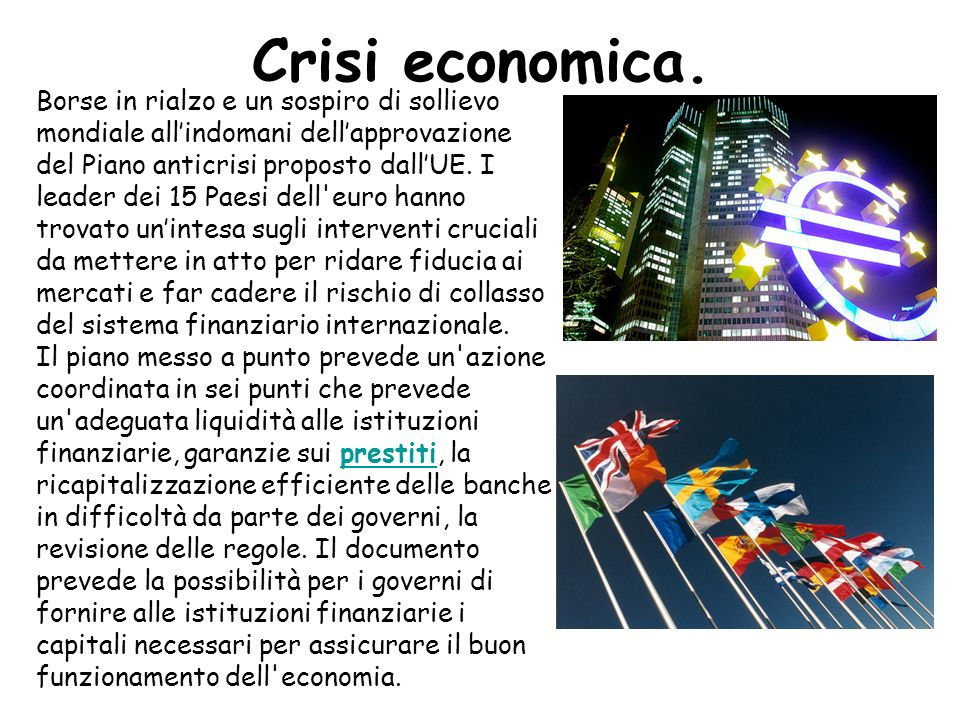 Crisi economica.