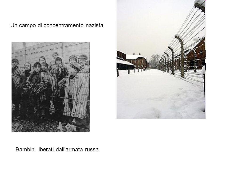 Un campo di concentramento nazista Bambini liberati dallarmata russa