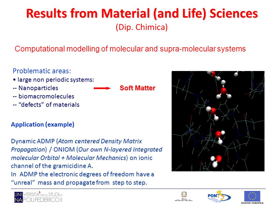 Computational modelling of molecular and supra-molecular systems Problematic areas: large non periodic systems: large non periodic systems: -- Nanopar
