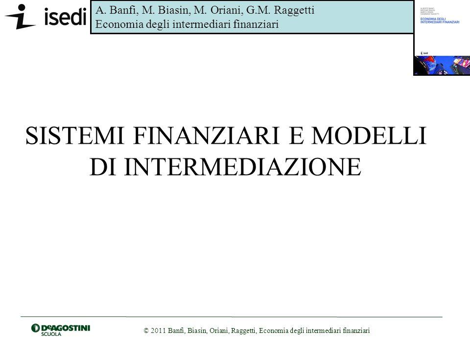 A. Banfi, M. Biasin, M. Oriani, G.M. Raggetti Economia degli intermediari finanziari © 2011 Banfi, Biasin, Oriani, Raggetti, Economia degli intermedia