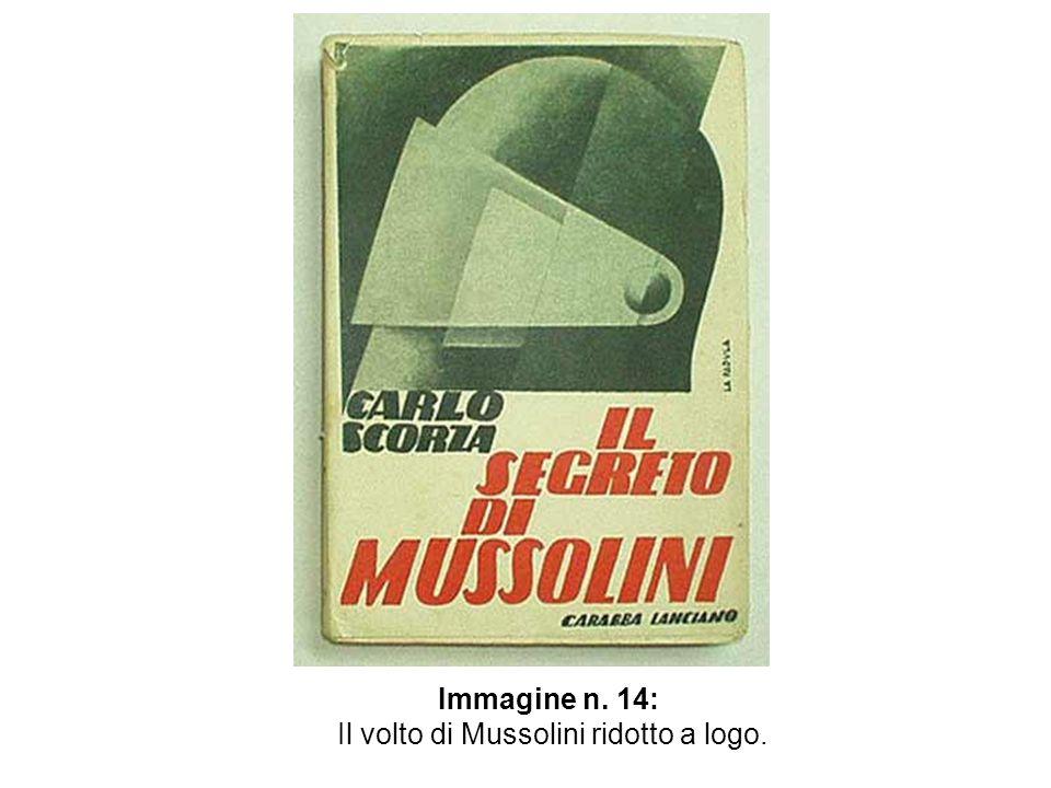 Immagine n. 14: Il volto di Mussolini ridotto a logo.