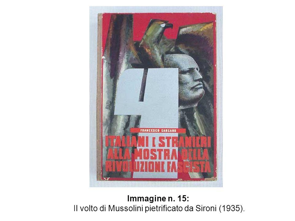 Immagine n. 15: Il volto di Mussolini pietrificato da Sironi (1935).