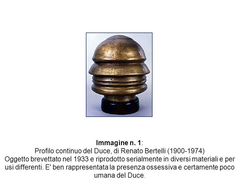 Immagine n. 1: Profilo continuo del Duce, di Renato Bertelli (1900-1974) Oggetto brevettato nel 1933 e riprodotto serialmente in diversi materiali e p