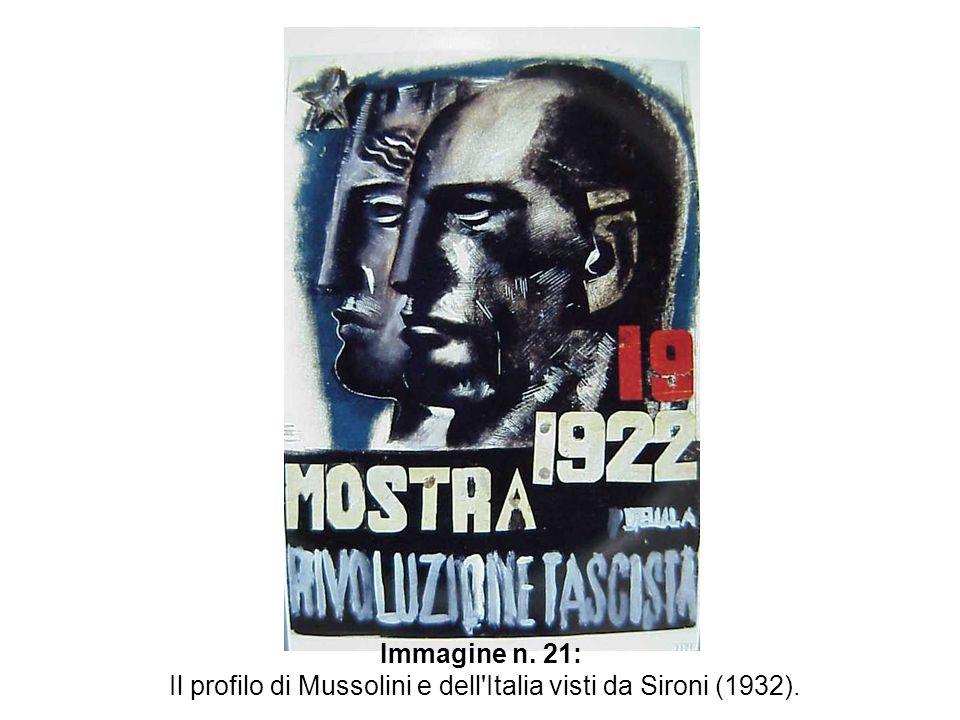 Immagine n. 21: Il profilo di Mussolini e dell'Italia visti da Sironi (1932).