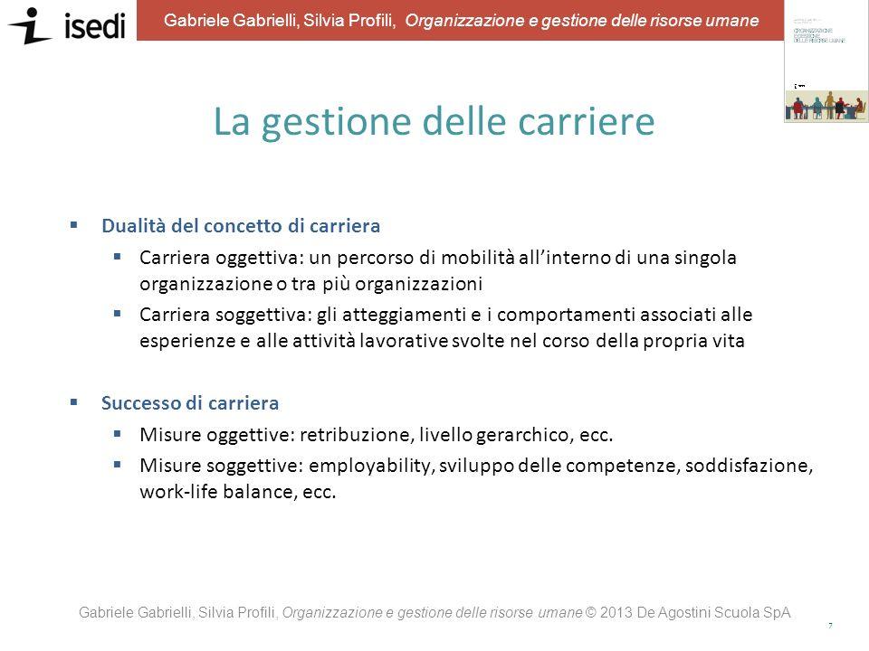 6 Gabriele Gabrielli, Silvia Profili, Organizzazione e gestione delle risorse umane Le diverse prospettive sulle carriere Prospettiva individuale Pros