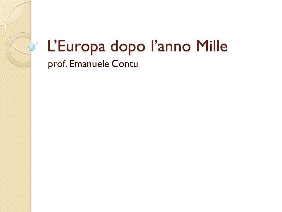 LEuropa dopo lanno Mille prof. Emanuele Contu