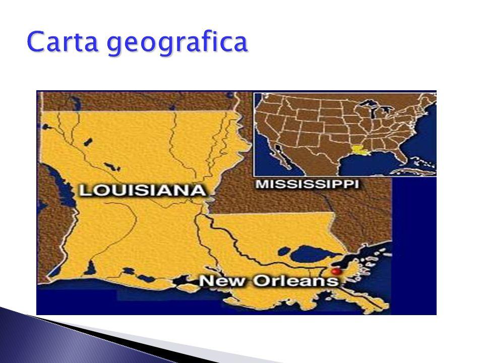 o Situata sulle sponde del fiume Mississipi; o A nord è bagnata dal lago Pontchartrain. Geografia