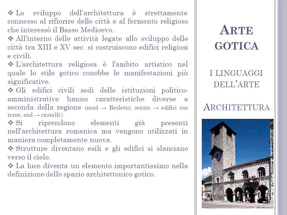 C ATTEDRALE La cattedrale, simbolo indiscusso dellarchitettura gotica e centro fondamentale della vita cittadina, era lespressione massima della chiesa trionfante.