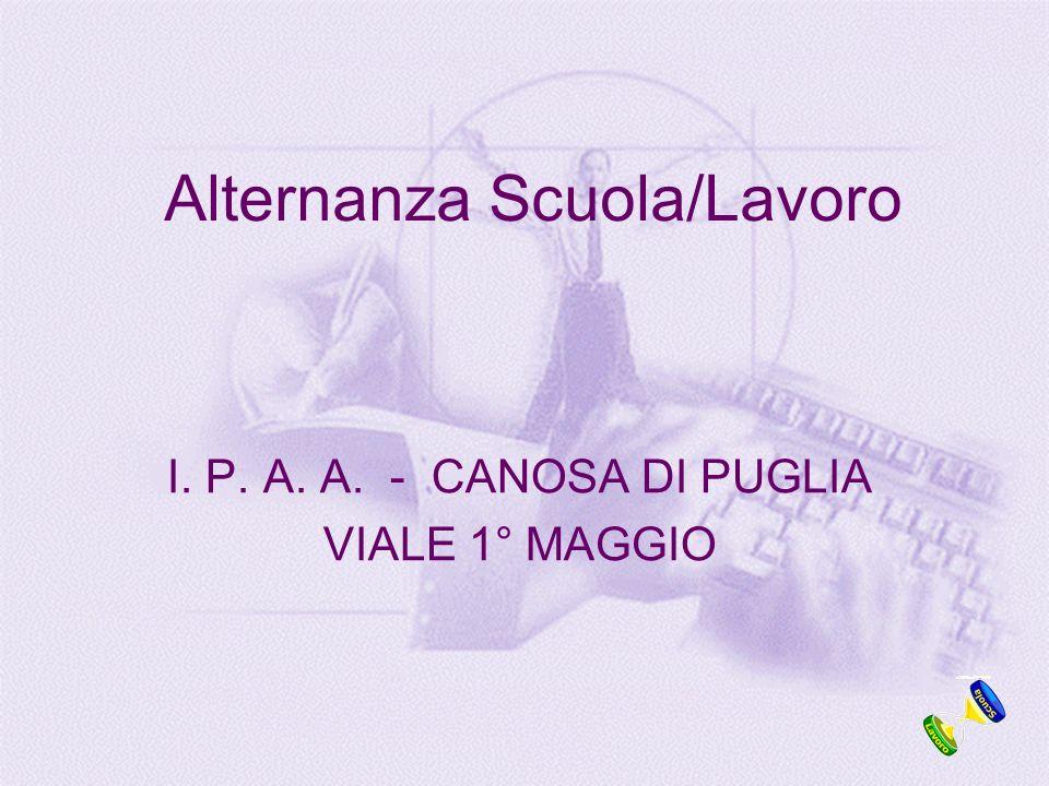 Alternanza Scuola/Lavoro I. P. A. A. - CANOSA DI PUGLIA VIALE 1° MAGGIO