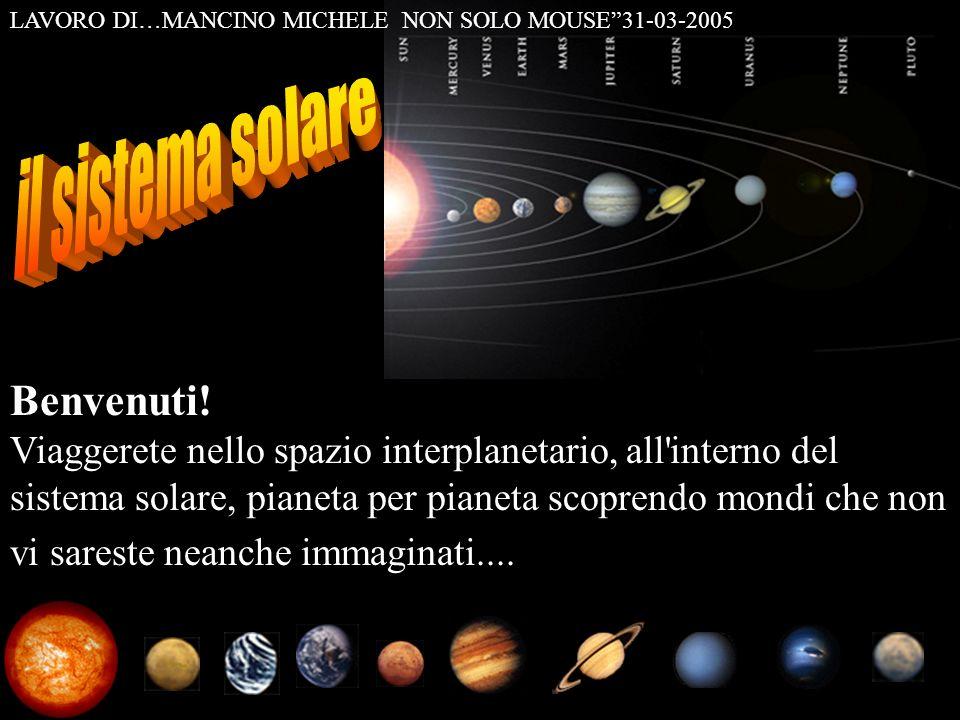 Benvenuti! Viaggerete nello spazio interplanetario, all'interno del sistema solare, pianeta per pianeta scoprendo mondi che non vi sareste neanche imm