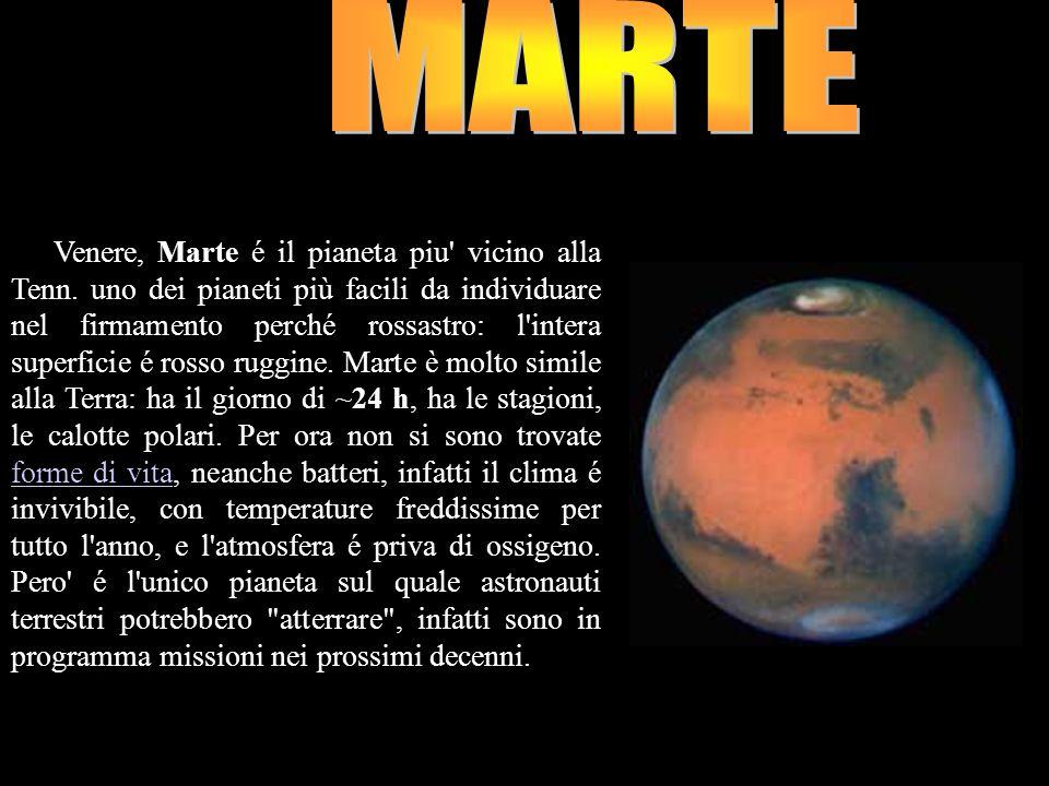 Dopo Venere, Marte é il pianeta piu' vicino alla Tenn. uno dei pianeti più facili da individuare nel firmamento perché rossastro: l'intera superficie