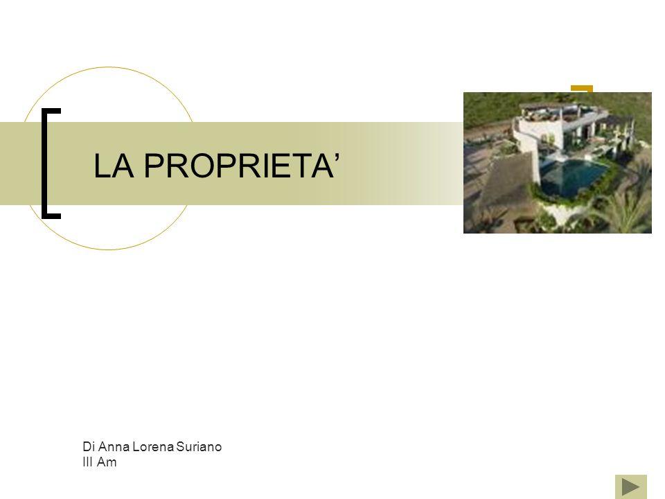LA PROPRIETA Di Anna Lorena Suriano III Am