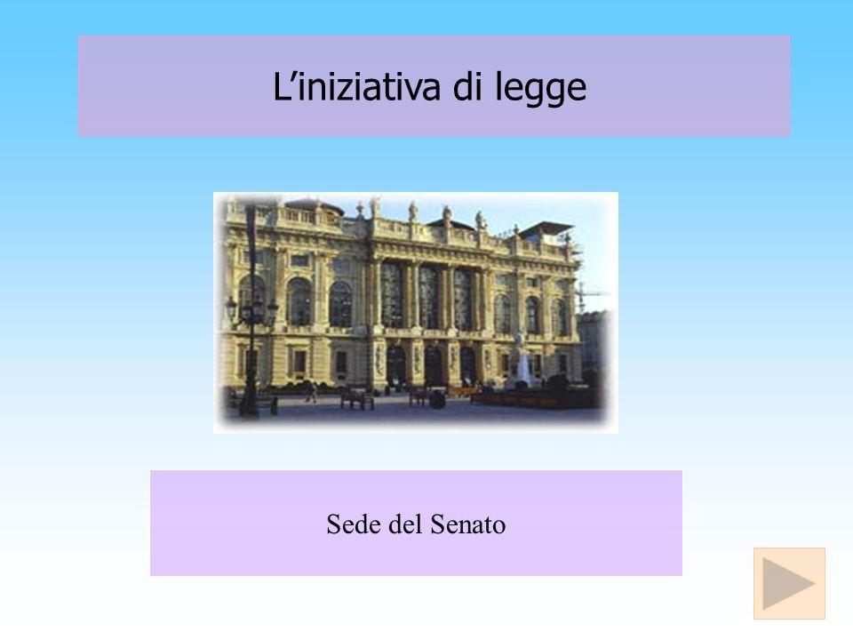 Disegno di legge Viene approvato dal Consiglio dei Ministri e presentato al Presidente di una delle due Camere.