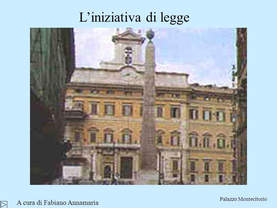 Liniziativa di legge Palazzo Montecitorio A cura di Fabiano Annamaria