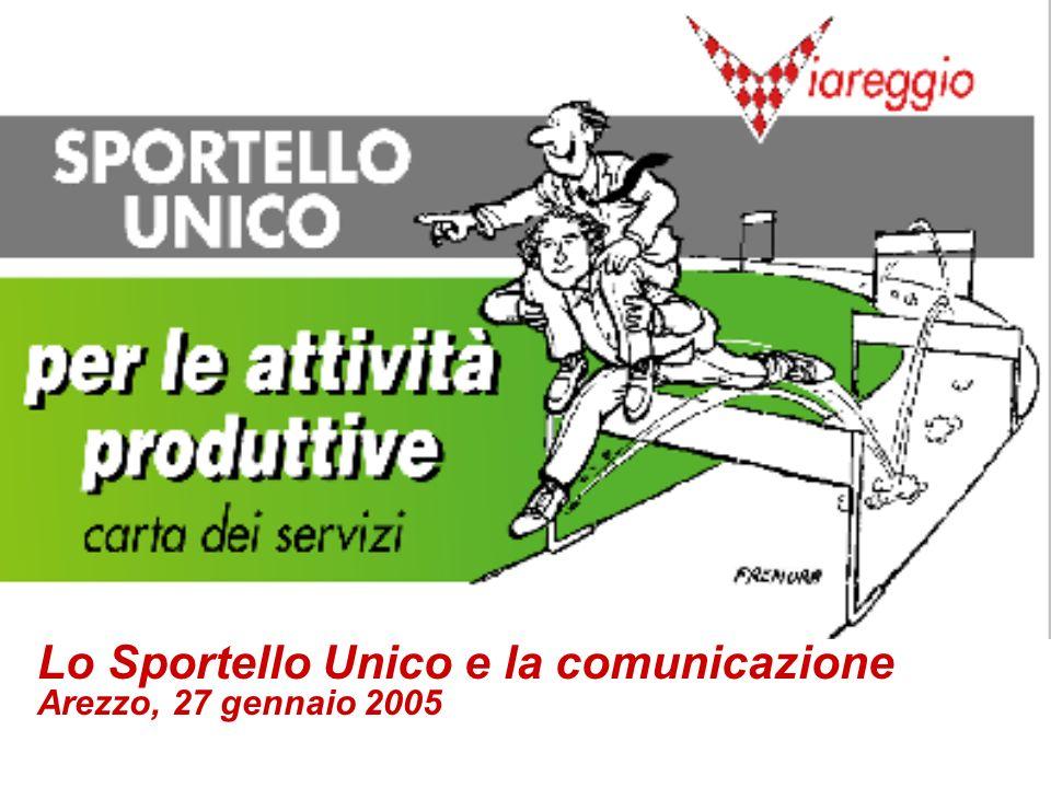 1 Lo Sportello Unico e la comunicazione Arezzo, 27 gennaio 2005