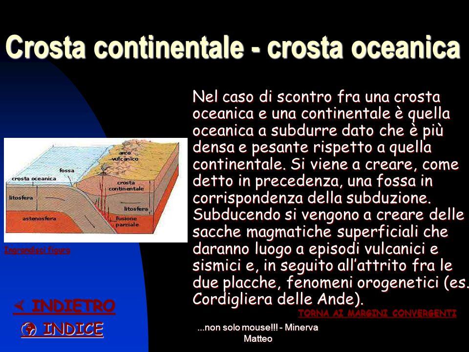 ...non solo mouse!!! - Minerva Matteo Crosta oceanica – crosta oceanica Quando ci troviamo di fronte allo scontro di una crosta oceanica con unaltra c