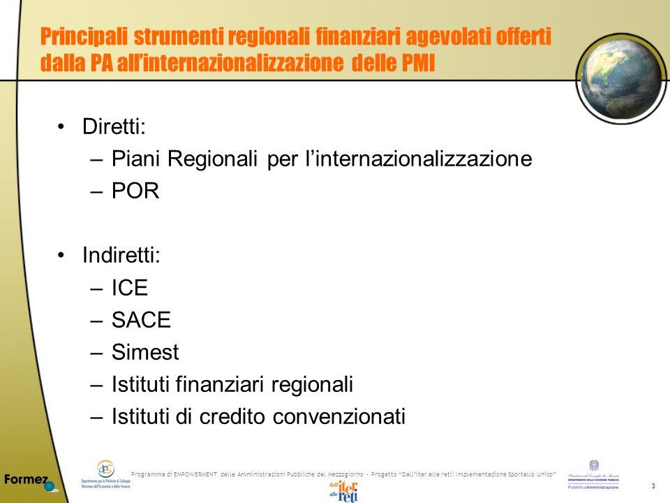 Programma di EMPOWERMENT delle Amministrazioni Pubbliche del Mezzogiorno - Progetto Dalliter alle reti: Implementazione Sportello Unico 3 Principali s