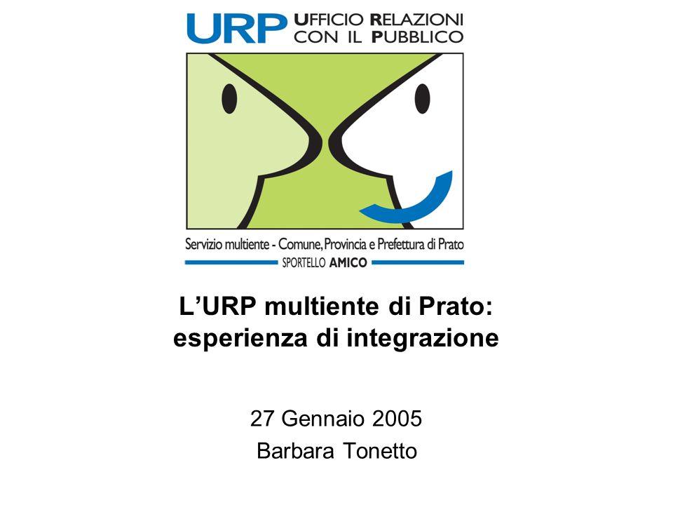 LURP multiente di Prato: esperienza di integrazione 27 Gennaio 2005 Barbara Tonetto