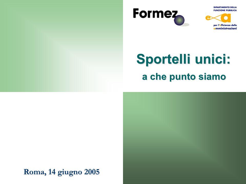 Sportelli unici: a che punto siamo Roma, 14 giugno 2005