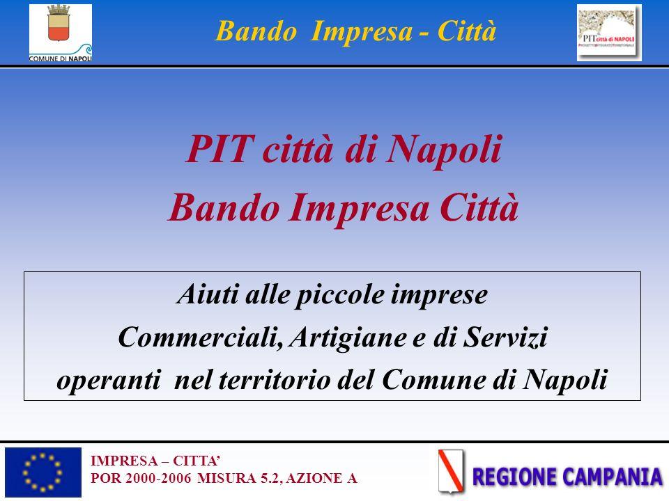 IMPRESA – CITTA POR 2000-2006 MISURA 5.2, AZIONE A Bando Impresa - Città PIT città di Napoli Bando Impresa Città Aiuti alle piccole imprese Commercial
