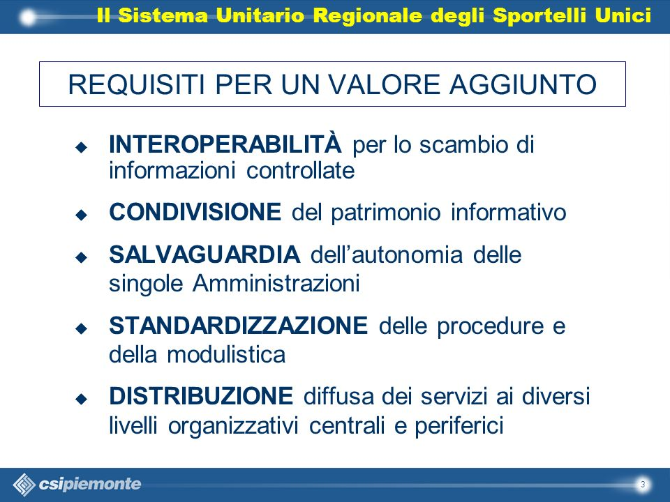 14 Sportello Unico Regione Piemonte