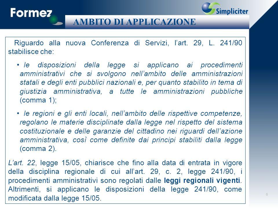 17 Dal 2001 al 7 marzo 2005: quando è entrata in vigore la L.