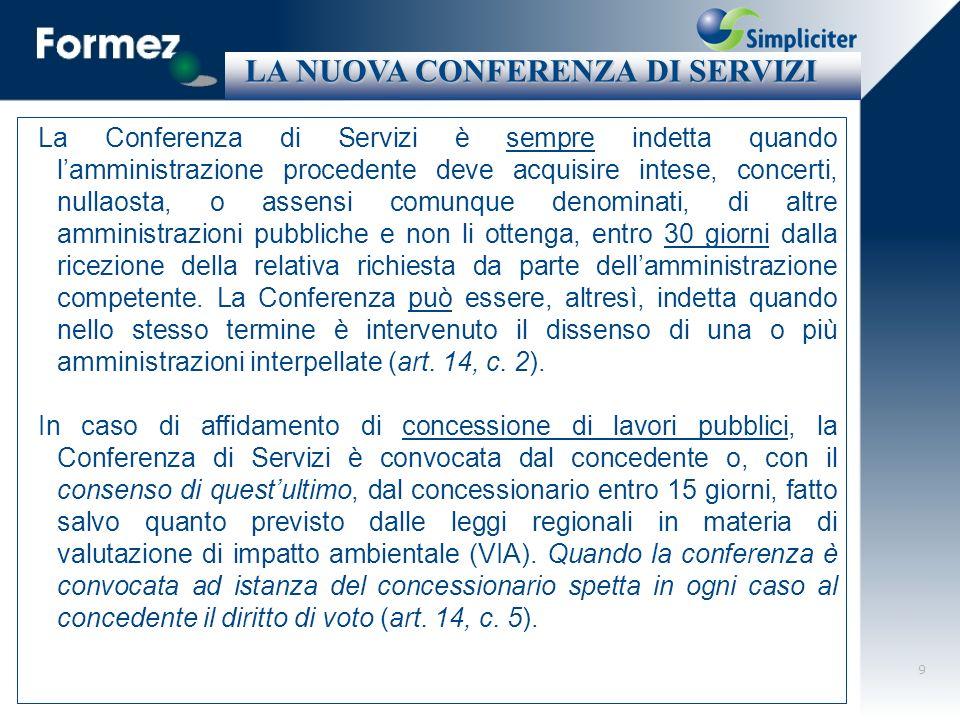 10 La Conferenza di Servizi in materia di finanza di progetto (art.