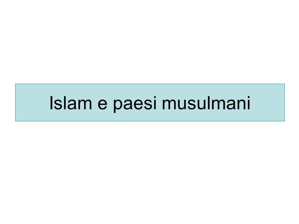 La spiritualità dellislam LIslam si basa su cinque pilastri: -shahàda: la professione della fede in Allah e nel suo profeta -salàt: la preghiera cinque volte al giorno (allalba, verso mezzogiorno, nel pomeriggio, al calar del sole, di notte) -zakàt: lofferta dellelemosina rituale -sawm-ramadan: il digiuno di un mese -hajj: il pellegrinaggio alla Mecca da compiersi almeno una volta nella vita per chi ne ha la possibilità Il fedele islamico viene chiamato alla preghiera dal muezzin dallalto del minareto e deve rispettare alcuni riti quali le abluzioni e la prostrazione in maniera formalmente perfetta.