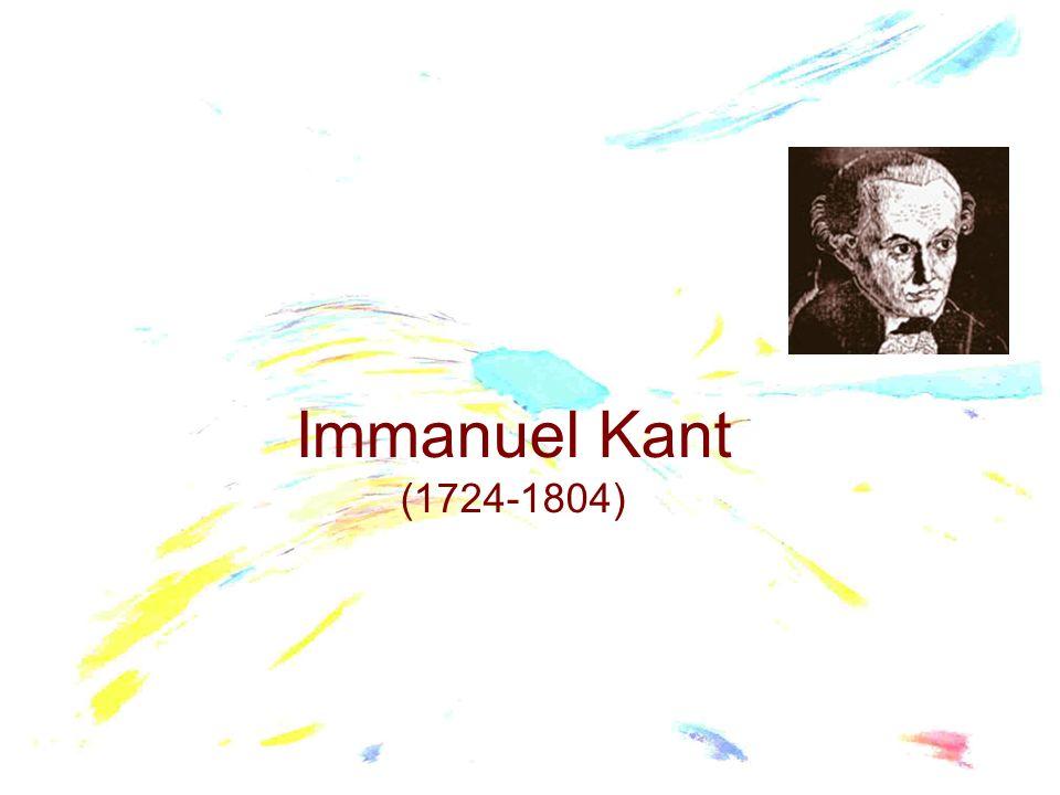 Nato a Konigsberg il 22 aprile del 1724 da famiglia di forti convinzioni religiose.