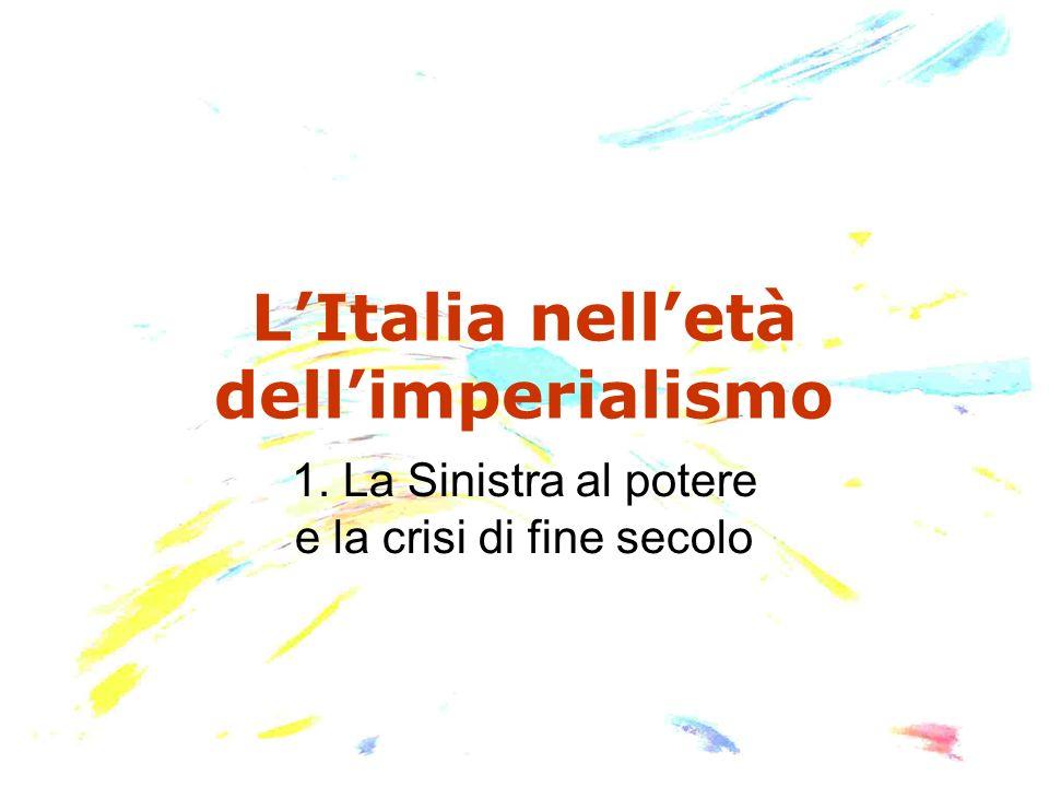 Fine del Risorgimento Nel corso degli anni 70-80 la si chiude unepoca storica anche per la scomparsa di alcuni protagonisti: 1872: muore Mazzini.