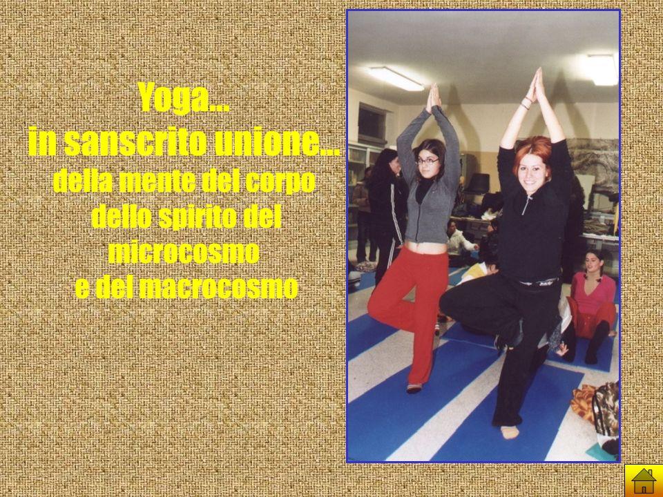 Yoga... in sanscrito unione... della mente del corpo dello spirito del microcosmo e del macrocosmo