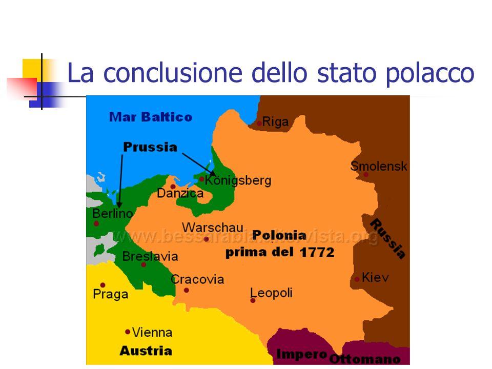 La conclusione dello stato polacco