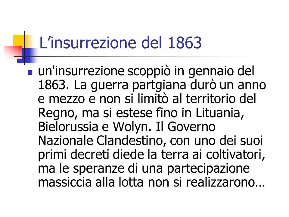 Linsurrezione del 1863 un insurrezione scoppiò in gennaio del 1863.