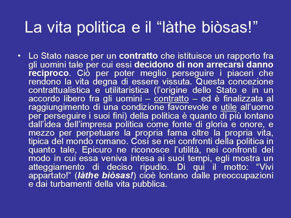 La vita politica e il làthe biòsas.