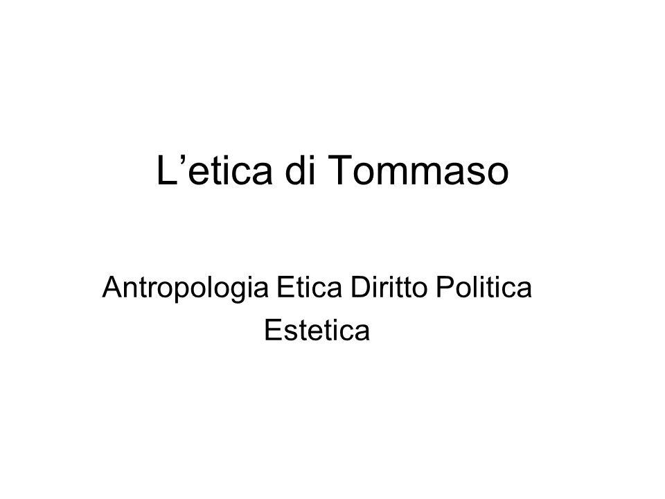 Letica di Tommaso Antropologia Etica Diritto Politica Estetica