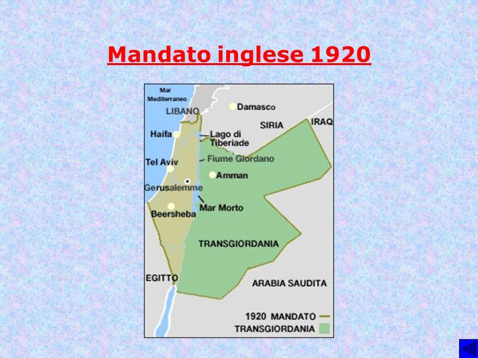 Mandato inglese 1920