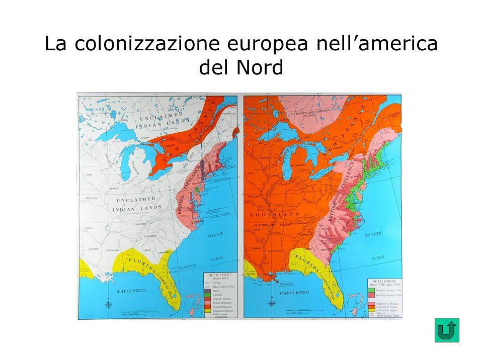 La colonizzazione europea nellamerica del Nord