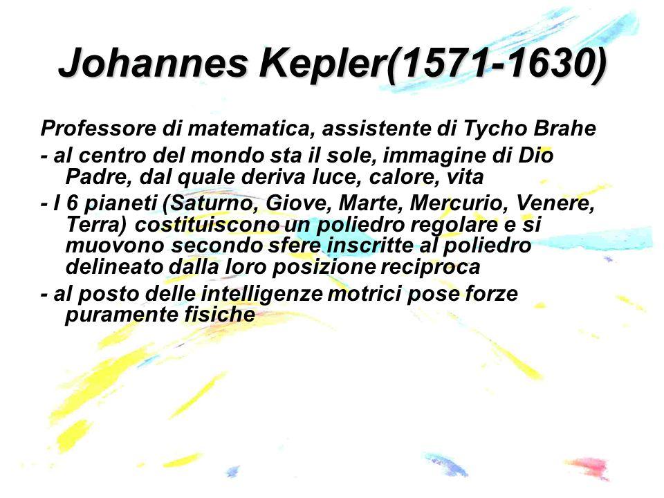 Johannes Kepler(1571-1630) Prima legge di Keplero: Le orbite dei pianeti sono delle ellissi con il Sole in uno dei due fuochi.