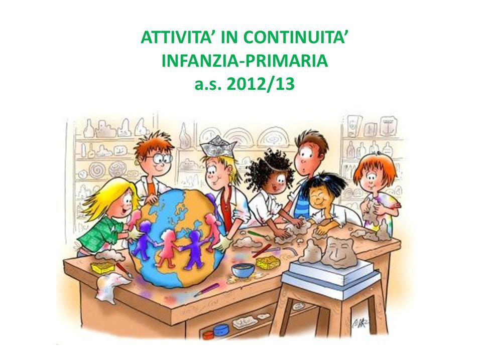 ATTIVITA IN CONTINUITA INFANZIA-PRIMARIA a.s. 2012/13
