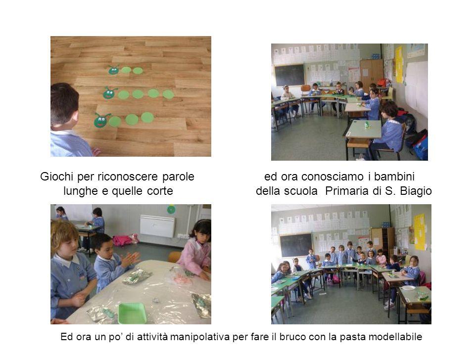 Giochi per riconoscere parole ed ora conosciamo i bambini lunghe e quelle corte della scuola Primaria di S.