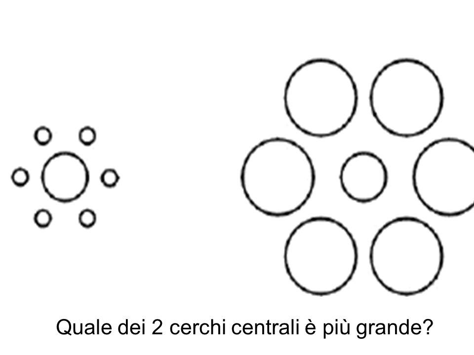 Quale dei 2 cerchi centrali è più grande?